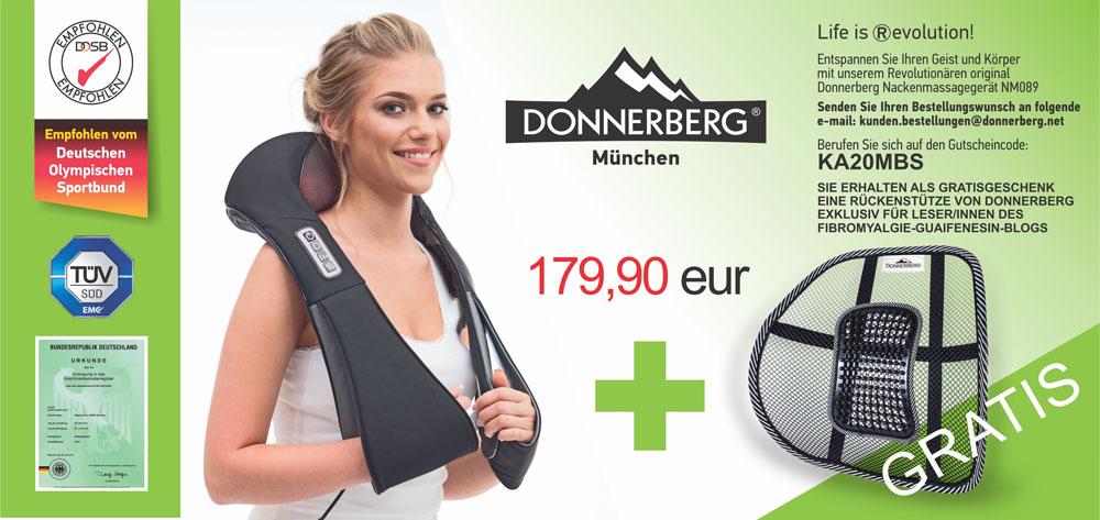 gratis Rückenstütze von Donnerberg Massagegeräte