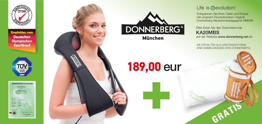 gratis Bambuskissen von Donnerberg Massagegerät