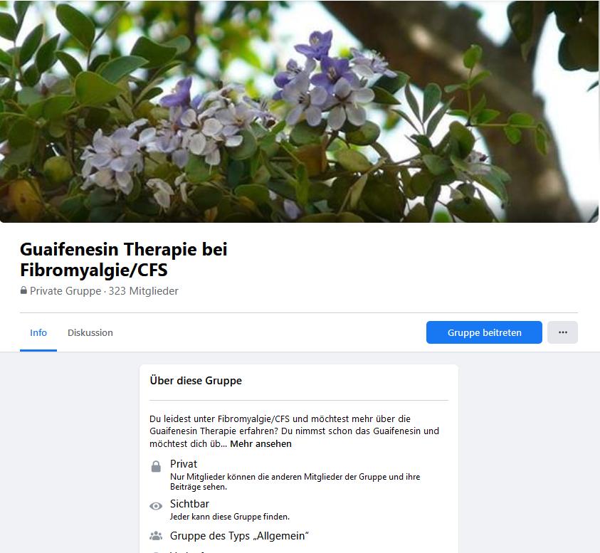 Facebook Gruppe Guaifenesintherapie